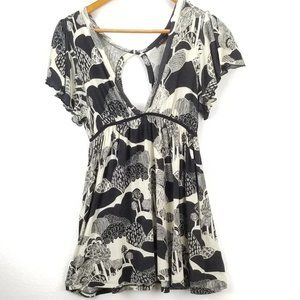 Anthro Lux. Peplum Tunic Blouse